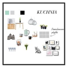 """kuchnia"" by nataliawisniewska on Polyvore featuring interior, interiors, interior design, dom, home decor, interior decorating, Höganäs Ceramic, Anthropologie, Moooi i Normann Copenhagen"