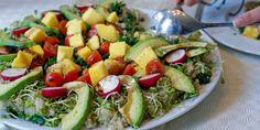 Mango, avokado og grønnkålsalat – Berit Nordstrand Avocado, Mango, The Fam, Lchf, Cobb Salad, Potato Salad, Food And Drink, Dinner, Ethnic Recipes