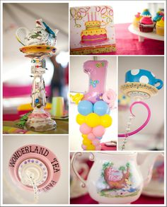 Have to remember this one - Alice in ONEderland! Alice in Wonderland themed 1st Birthday