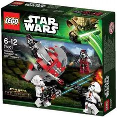 Lego 75001 Star Wars Republic Troopers Vs Sith Tr - $ 649,99