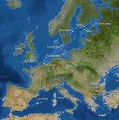 Áreas inundadas en Europa.-