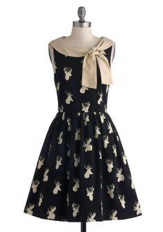 On Antler On Dress, #ModCloth