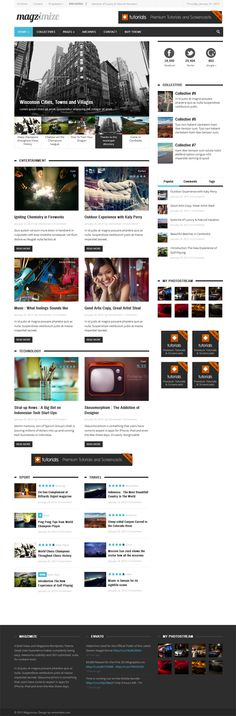 Magzimize, WordPress Bold News Magazine Theme