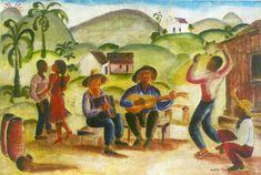 Título :Festa no Arraial -Fase Rural Artista :Annita Catarina Malfatti - Anita Malfatti - Anita Malfati Década :40 Técnica :Óleo sobre madeira Dim. :40 x 59,5 cm