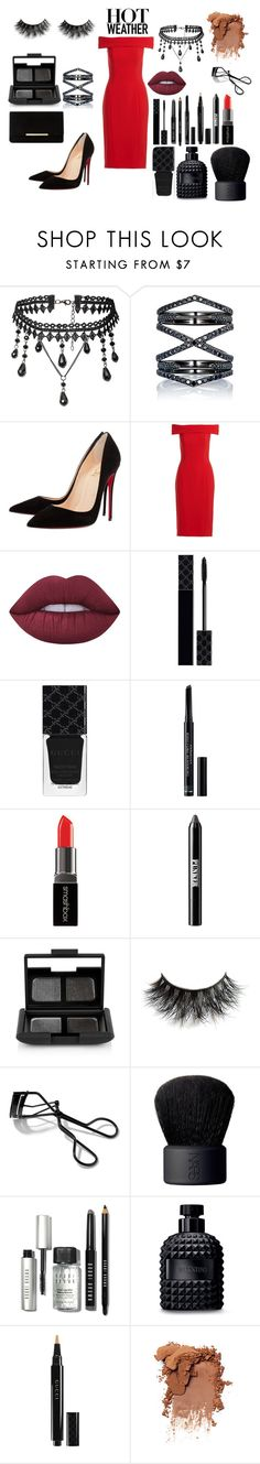 """Geen titel #97"" by amiraeljafoufi on Polyvore featuring mode, Eva Fehren, Christian Louboutin, Theia, Lime Crime, Gucci, Christian Dior, Smashbox, Ardency Inn en NARS Cosmetics"