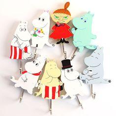 8 pcs/lot moomin valley figure hook Anime Moomin Moominpappa Moominmamma Snorkmaiden cute strong stick hooks free shipping