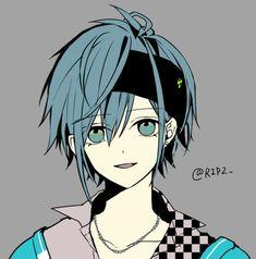 Manga Boy, Manga Anime, Anime Art, Anime People, Anime Guys, Anime Guy Blue Hair, Handsome Anime, Cute Anime Boy, Manga Illustration