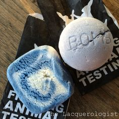 The Lacquerologist: LUSH Cocktail: Clean Towels with Blackberry Bath Bomb & Blue Skies Bubble Bar