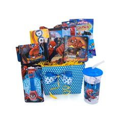 Christmas Gift Baskets For Kids Spiderman Fun & Games Accessory Toys, Playing Card Spiderman tumbler Spiderman watch Spiderman bracelet and army tag necklace Spiderman wallet Spiderman puzzle Spiderman game Spiderman play pack Kids Gift Baskets, Book Baskets, Themed Gift Baskets, Christmas Gift Baskets, Easter Baskets, Christmas Gifts, Storage Baskets, Get Well Gifts, Disney Pixar Cars