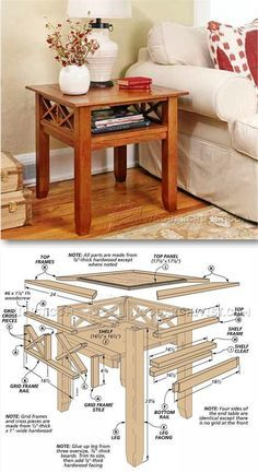 Build End Table - Furniture Plans and Projects | http://WoodArchivist.com