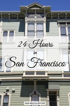 I'm excited to share my guide to 24 hours in San Francisco. Forget the visitor attractions. This is how locals do the city.