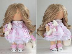 Tela muñeca hecha a mano muñeca Tilda muñecas por AnnKirillartPlace