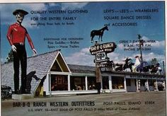 BBQ Ranch in Post Falls Idaho.....I had forgotten it was on Seltice Way in my childhood; opened 1952, closed 1984
