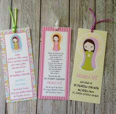 DIY PRINTABLE COMMUNION  Baptism Cards  Bookmark by GUGUKIDSDESIGN, $8.00
