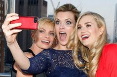 The beautiful and talented MISSI PYLE (taking a selfie with Jaime Pressly and Nora Kirkpatrick)
