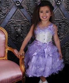 Another great find on #zulily! Lavender Ruffle Dress & Sheer Shrug - Toddler & Girls by Alexia's Baby Boutique #zulilyfinds