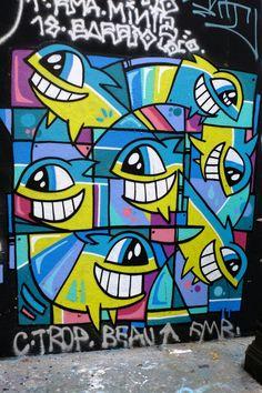 El Pez - street art - Paris 19 - rue Henri Nougères #streetart #graffiti #Street art