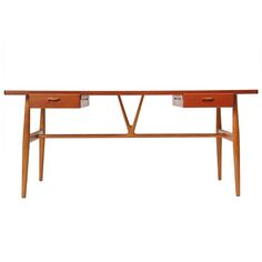 The Wishbone Desk By Hans Wegner | From a unique collection of antique and modern desks and writing tables at http://www.1stdibs.com/furniture/tables/desks-writing-tables/