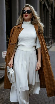 Transitional Dressing: A Winter Outfit You'll Wear Through Spring // Poirot checked cotton-blend Winter Outfits, Fall Fashion Outfits, Pink Fashion, Classy Work Outfits, Dressing, Leather Pumps, Black Leather, Satin Midi Skirt, Smart Outfit