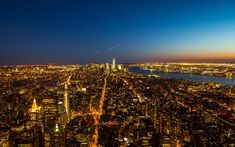 Download wallpapers NYC, 4k, New York, nightscapes, skyscrapers, USA, America