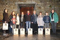 Ganadores presentes de lotes de vino