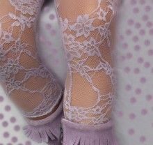 Lavender Lace Tights - Gigis Apparel, Inc. - Too bad these don't come in bigger sizes for little girls. Lace Weave, Sock Leggings, Lace Tights, Purple Love, Baby Scrapbook, My Little Girl, Baby Design, Girls Accessories, Lavender