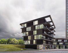 CPO science park | apartments | Renderings| Facades | Architecture | Atelier van Wengerden | Amsterdam