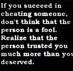 Cheating isn't always just physical. I feel cheated out of my happy ending... Broken hearted