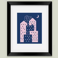 City Framed Art Print by Emvee on BoomBoomPrints