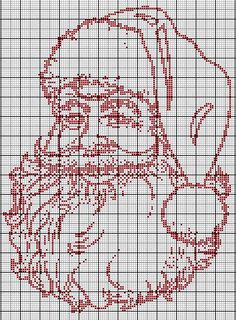 noël - christmas - père noël - point de croix - cross stitch - Blog : http://broderiemimie44.canalblog.com/