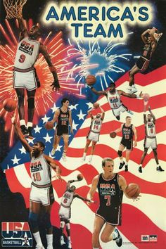 A great poster of the Dream Team - the 1992 US Olympic Basketball Team!  Michael Jordan 80b8a43be