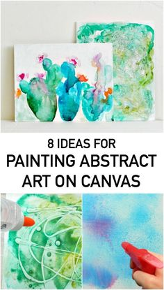 Experiment and explore with your canvas! Before you know it, you'll have a finished work of abstract art.