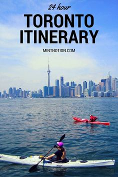 Planning a trip to Toronto? Check out this one-day Toronto itinerary which covers to top attractions to see in only 24 hours. Toronto Vacation, Toronto Travel, Toronto City, Banff, Montreal, Vancouver, Quebec, British Columbia, Canada Destinations