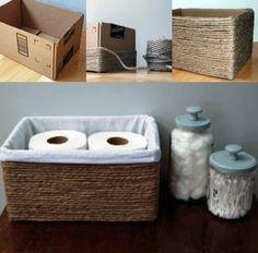 DIY- Cesto para banheiro