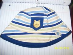 disney classic winnie pooh bear Baby HAT striped One size child or reborn #Disney