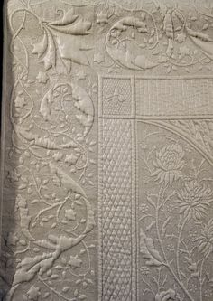 """Cut-Away Machine Trapunto by Quilter Jan Hutchison, """"First Frost"""" - TheQuiltShow.com"""