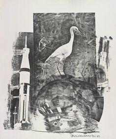 Robert Rauschenberg, Horn, Stoned Moon Series, 1969, Woodward Gallery