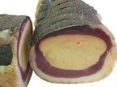 Magret de canard fumé farci au foie gras