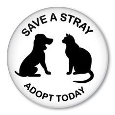 Save A Stray Adopt Today - Animal Rescue button badge We Are The World, In This World, Animal Shelter, Animal Rescue, I Love Dogs, Puppy Love, Dog Spay, Les Religions, Dog Facts