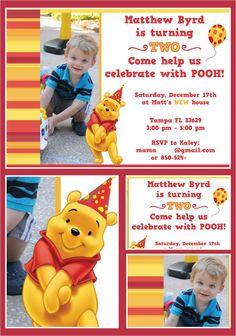 Invitation winnie the pooh