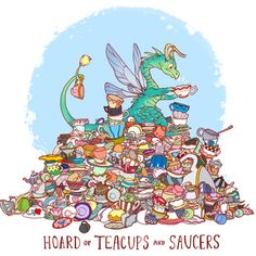 Hoard of teacups and saucers print - Thumbnail 5