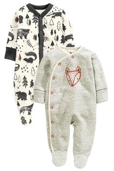 Kaufen Sie Grey Alpine Fox Sleepsuits Two Pack (0 Monate bis 2 Jahre) heute online bei Next: Deutschland