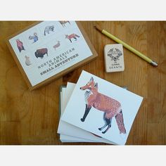 North American Animals Cards by Small Adventure, on sale on Fab!