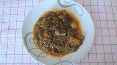 Spanac cu ciuperci – Retete grecesti Spaghetti, Meat, Ethnic Recipes, Food, Essen, Meals, Yemek, Noodle, Eten