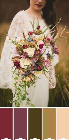 A Boho Dream Bridal Bouquet // www.onefabday.com
