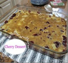 Cherry Dessert- a quick easy dessert