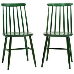 Pair of Green Tapiovaara Chairs | From a unique collection of antique and modern chairs at https://www.1stdibs.com/furniture/seating/chairs/