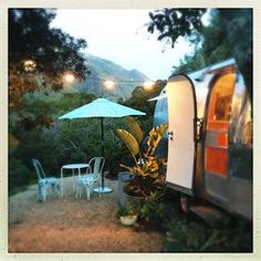 "Big Sur Getaway and what they like to call ""glamping"" 