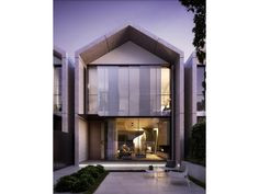 Individual bespoke townhomes, a stunning exmple of luxury design, modern Australian architecture. Modern Townhouse, Townhouse Designs, Narrow House Designs, Cabana, Brighton Houses, Compact House, Roof Architecture, Australian Architecture, Facade House