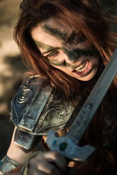 Aela Cosplay (Chloe Dykstra, @Danielle Lampert Markiewicz) - The Most Coolest Skyrim Cosplay I have ever Seen!!!